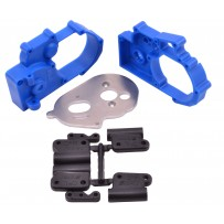 RPM Hybrid Gearbox Housing and Rear Mounts for Traxxas 2WD - Blue