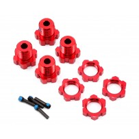 Traxxas Wheel Hubs & Nuts Splined 17mm Red-Anodized - 5353R